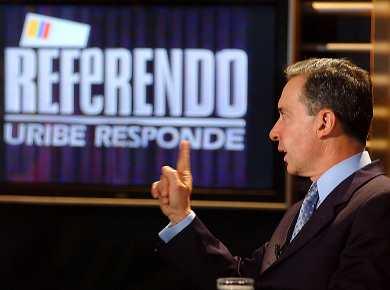 Uribe pidió al Congreso dejar de lado el referendo para la reelección |  Vanguardia.com