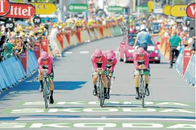 Tomada de EF Education First - Drapac p/b Cannondale / VANGUARDIA LIBERAL