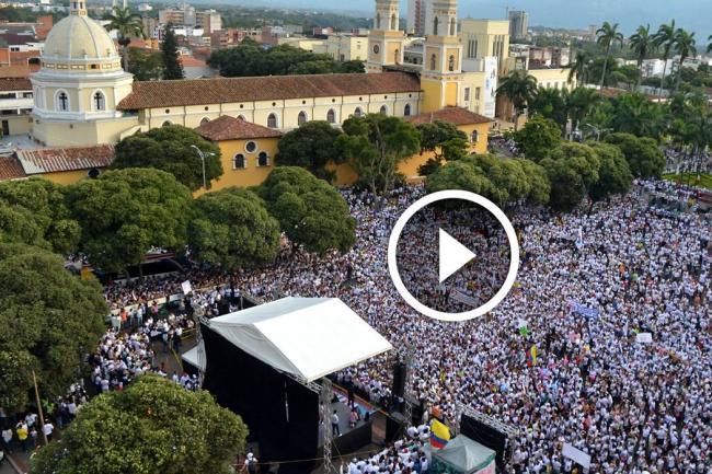 Así transcurrió la marcha en Bucaramanga tras polémica de educación sexual