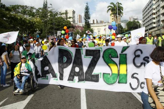 Bucaramanga marchó en apoyo a la paz con las Farc