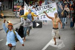 Bumangueses apoyaron la marcha por la defensa del páramo de Santurbán