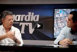Presidente Santos inauguró proyecto de Vanguardia TV