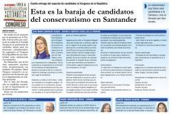 Esta es la baraja de candidatos del conservatismo en Santander