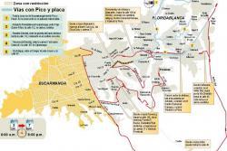 Estas son las zonas con y sin Pico y Placa en Bucaramanga