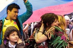 Imágenes de la celebración de los colombianos por el anuncio del cese al fuego