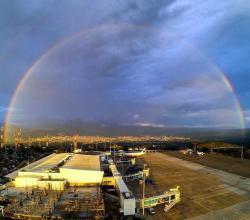 Bonito arcoíris adornó la tarde de Bucaramanga