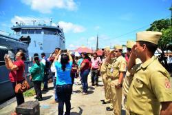 Imágenes del buque de la Armada Nacional que armó la fiesta en Barrancabermeja