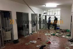 Así quedó el Centro de Servicios Judiciales de Bucaramanga después del motín