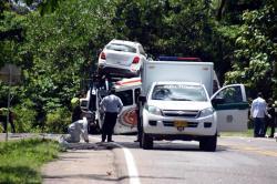 Imágenes del trágico accidente que dejó 11 muertos en Santander