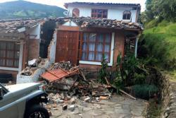 Estos son los daños que dejó el sismo de este martes con epicentro en el volcán Galeras