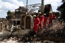 Incendio en Grecia deja 80 muertos, 180 heridos y decenas de desaparecidos