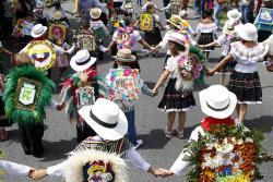 Las mejores imágenes del desfile de 'silleteritos' en Medellín