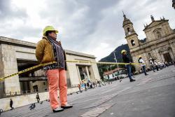Movimiento Nacional Ambiental realizó performance en contra del uso indiscriminado del suelo en Colombia