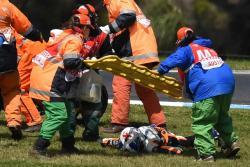 Impactante accidente en carrera de Moto3