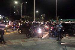 Marcha de docentes generó caos vehicular en Bucaramanga