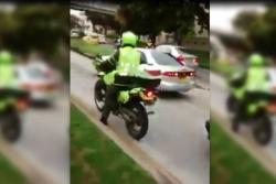 Continuán imprudencias en carril de Metrolínea en Floridablanca