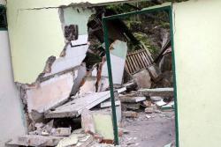 38 familias fueron evacuadas por deslizamiento en San Vicente de Chucurí