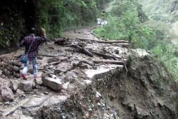 Municipio de Santa Bárbara, Santander, quedó incomunicado tras fuerte aguacero