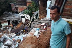Lluvias arrasaron cuatro viviendas en Bucaramanga