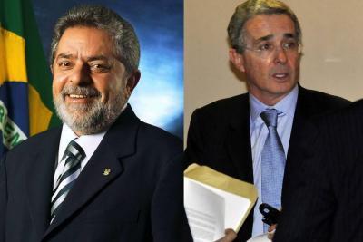 Lula, extrañado con reacción de Uribe a sus declaraciones sobre desconfianza