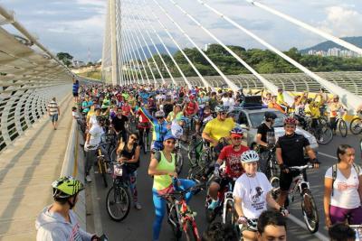 Masiva asistencia de bumangueses en la 'Bici-Cabalgata'