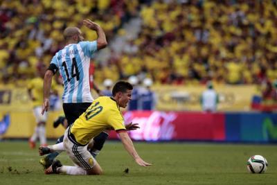 Colombia perdió 1-0 ante Argentina en Barranquilla