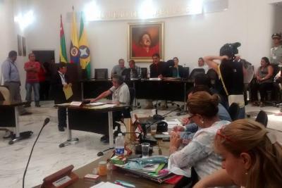 Oposición al Alcalde de Bucaramanga se tomó mesa directiva del Concejo
