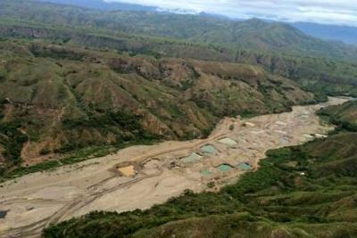 Minería y sequía desaparecieron el río Sambingo en Cauca