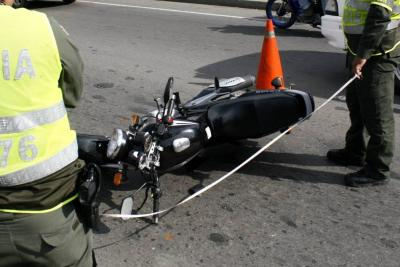 Dos motociclistas perdieron la vida en accidentes en Santander