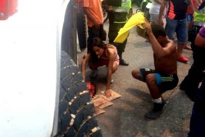 Accidente dejó a un motociclista herido en Barrancabermeja