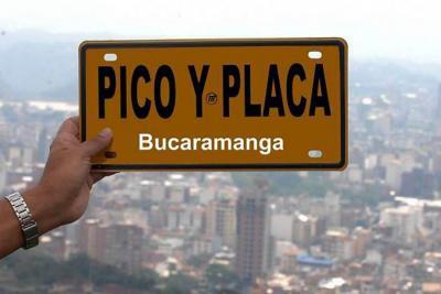 Este martes rotará el 'pico y placa' en  Bucaramanga