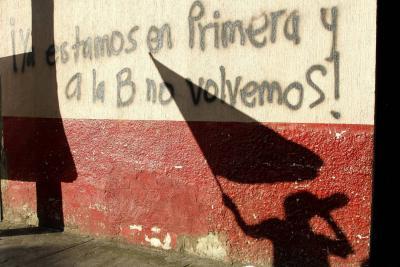 Hinchas realizaron un plantón frente a las oficinas del Atlético Bucaramanga