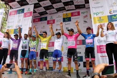 Lucas Haedo fue el vencedor de la tercera etapa de la Vuelta a Colombia