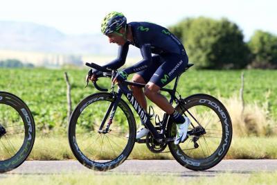 Nairo Quintana ganó en la crono y es líder de la Ruta del Sur
