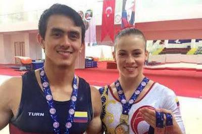 Jossimar Calvo y Catalina Escobar se lucieron en Copa Mundo de Turquía