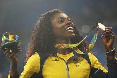 Caterine Ibargüen recibió este lunes su medalla de oro en Río 2016