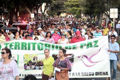 Inician marchas por el No y contra la Reforma Tributaria en Bogotá