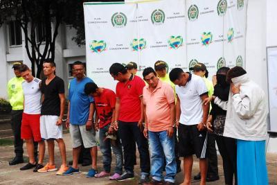 Capturados nueve integrantes de la banda 'Los W'