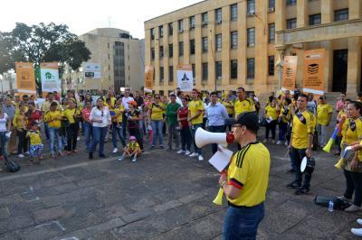 En Bucaramanga Protestaron contra la reforma tributaria