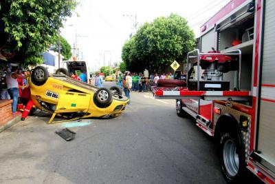 Accidente dejó a dos mujeres heridas ayer en Barrancabermeja