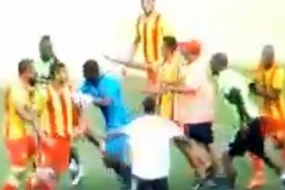 Video registró pelea en amistoso entre Deportivo Cali y Pereira