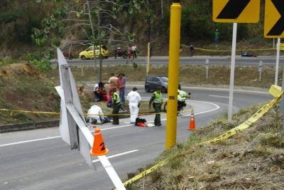 Hombre  murió en un accidente de tránsito en la vía Lebrija – Bucaramanga