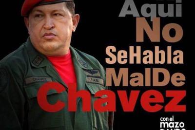 """""""Aquí no se habla mal de Chávez"""", el cartel que busca invadir Venezuela"""