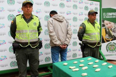 Venezolano que transportaba 450 gramos de heroína fue capturado en Bucaramanga