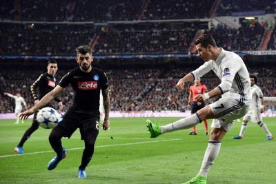 Real Madrid venció 3-1 al Nápoles en octavos de final de la Champions