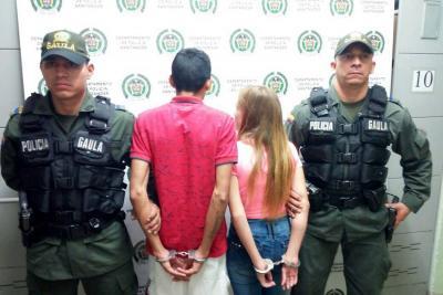 Arrestada en flagrancia pareja de extorsionistas en Bucaramanga