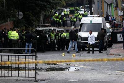 Uno de los policías heridos en el atentado en Bogotá tiene muerte cerebral