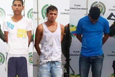Tres extorsionistas fueron capturados por la Policía