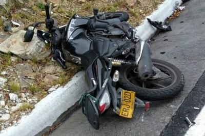 Accidente en vía Bucaramanga - Pamplona dejó motociclista muerto