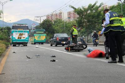 Motociclista murió en accidente de tránsito en autopista a Floridablanca